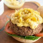 Vegan Black Bean Nacho Burger