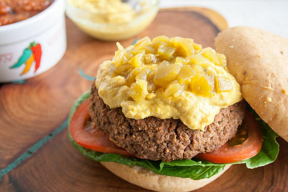 Nacho Burger open faced.