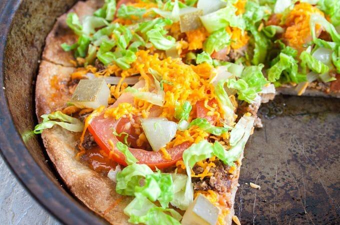 Vegan Cheeseburger Pizza