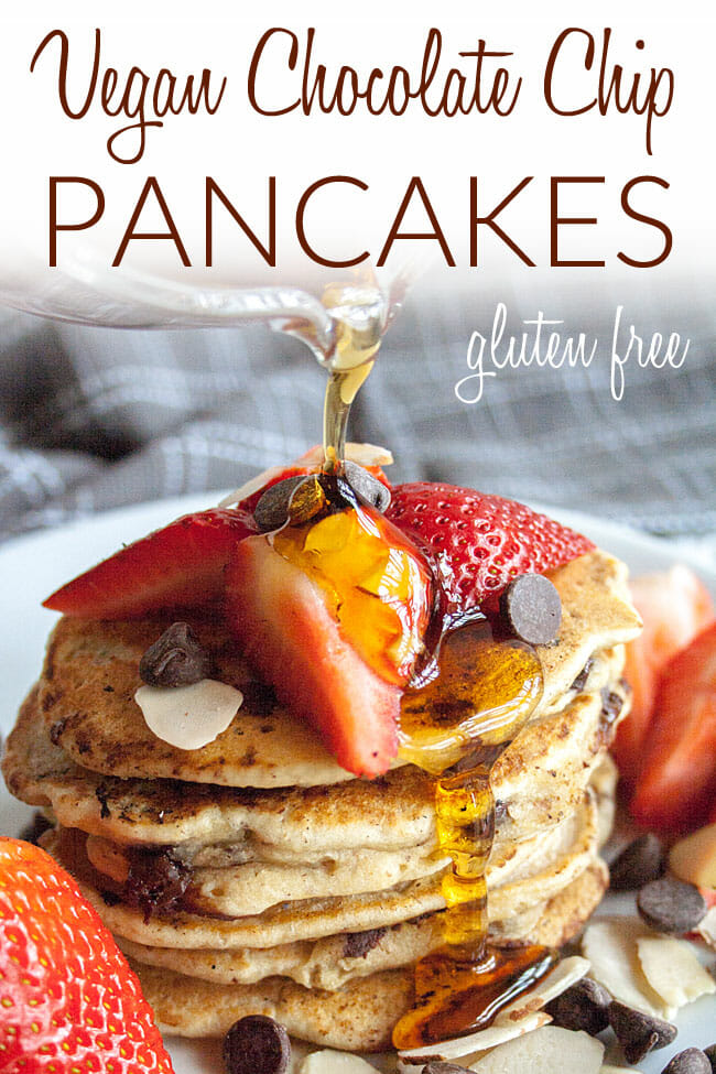 Easy Vegan Pancakes photo with text.