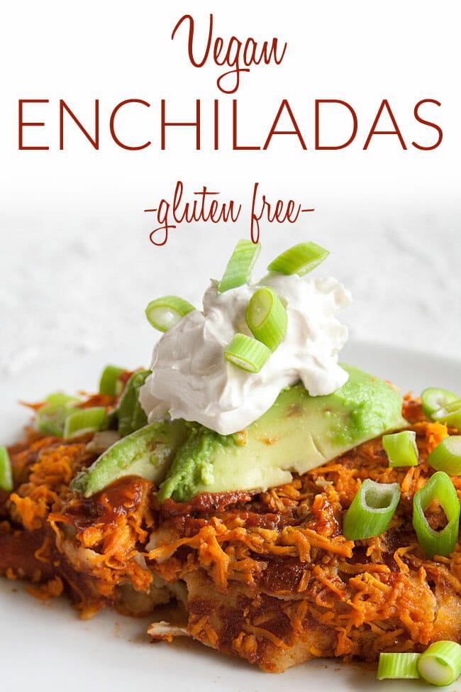 Tofu Enchiladas photo with text.