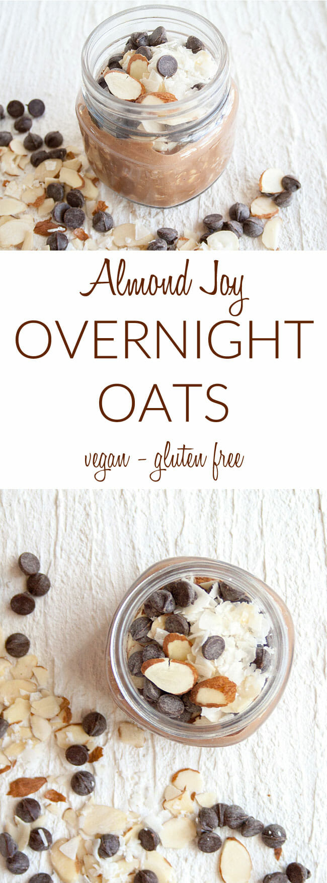 Vegan Overnight Oats collage photo with text.