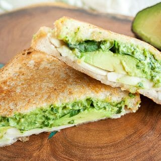 Avocado Pesto Grilled Cheese