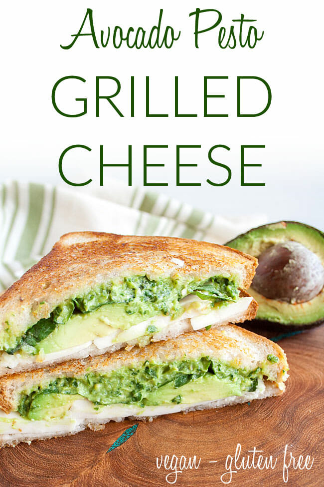 Vegan Grilled Cheese photo with text.