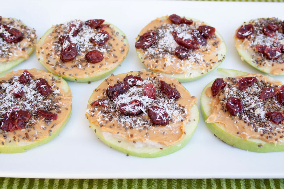 Coconut Peanut Butter Apple Pizzas