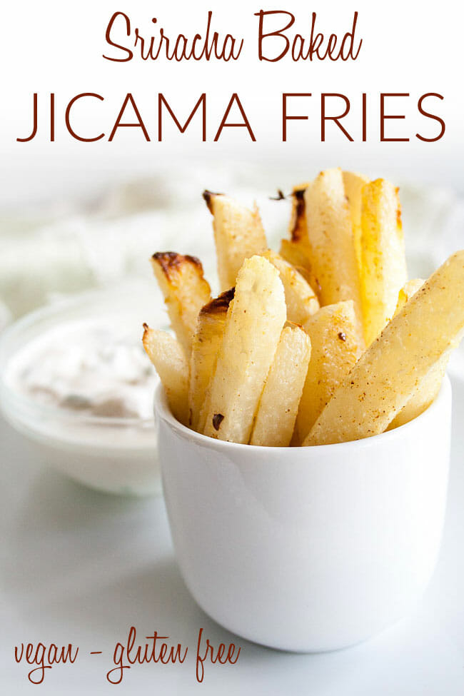 Baked Jicama Fries photo with text.
