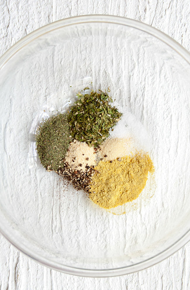 Ranch seasoning mix in bowl.