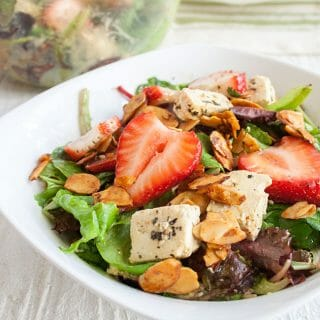 Strawberry and Tofu Feta Salad