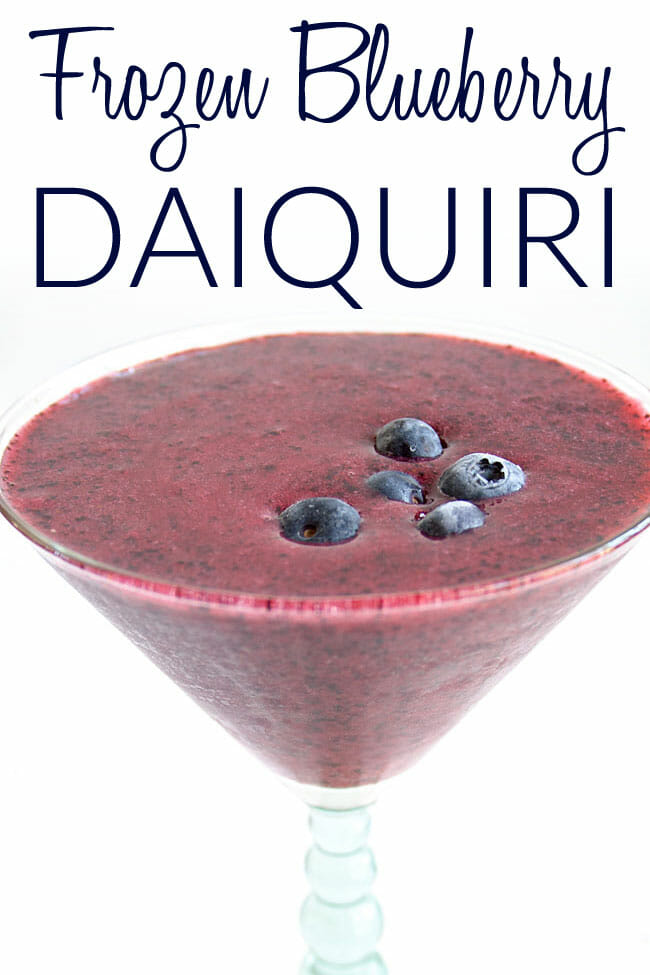 Frozen Blueberry Daiquiri photo with text.