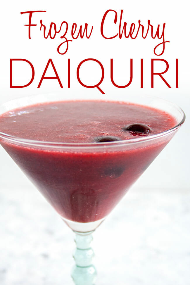 Frozen Cherry Daiquiri photo with text.