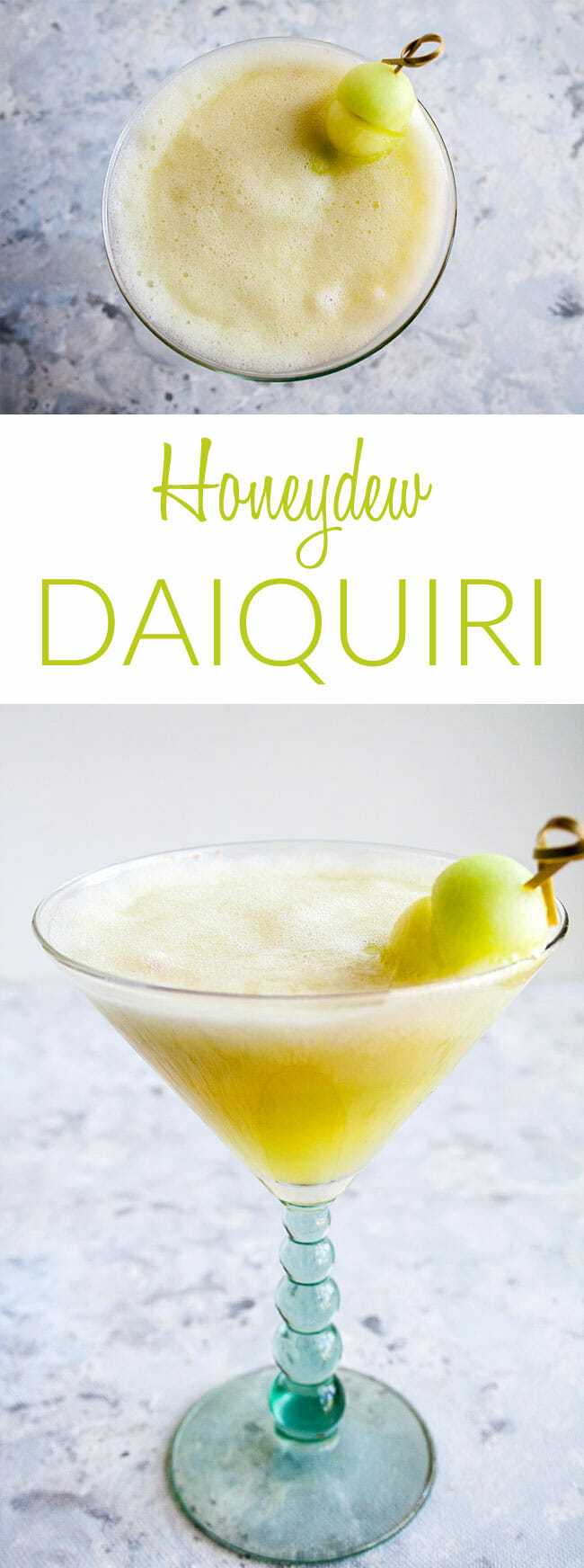 Honeydew Daiquiri collage photo with text.