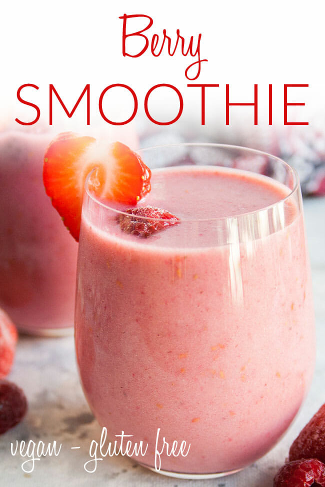 Vegan Smoothie photo with text.