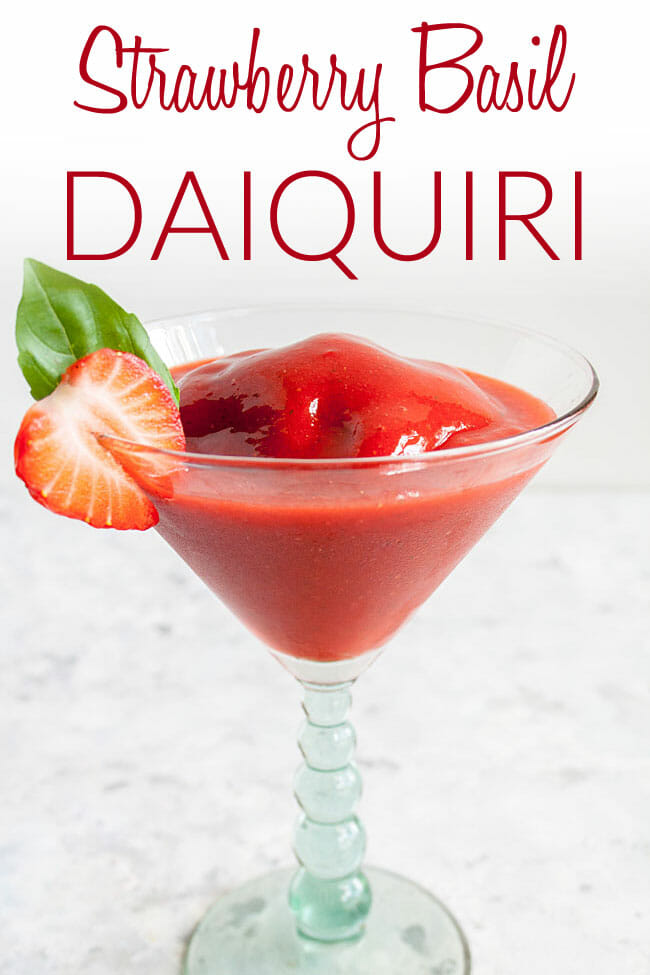 Frozen Strawberry Daiquiri photo with text.