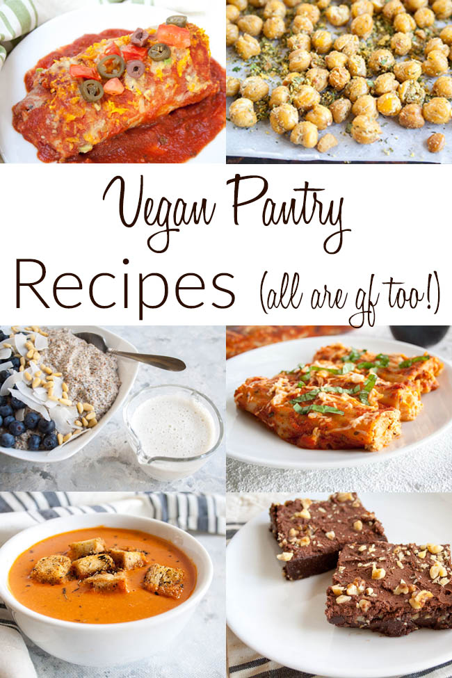 Vegan Pantry Recipes photo with text.