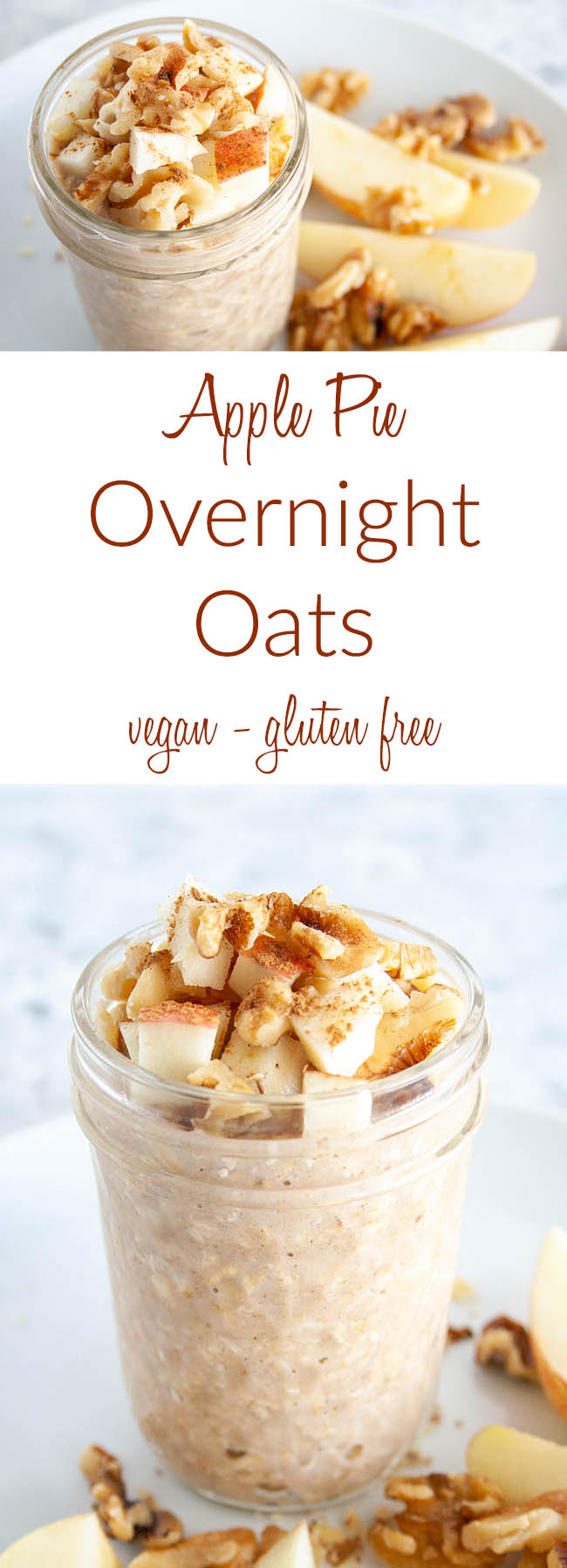 Overnight Oats collage photo with text.