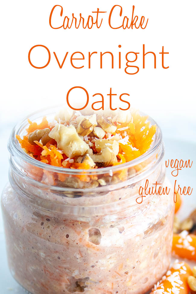 Vegan Overnight Oats photo with text.