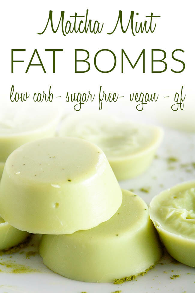 Matcha Mint Fat Bombs photo with text.