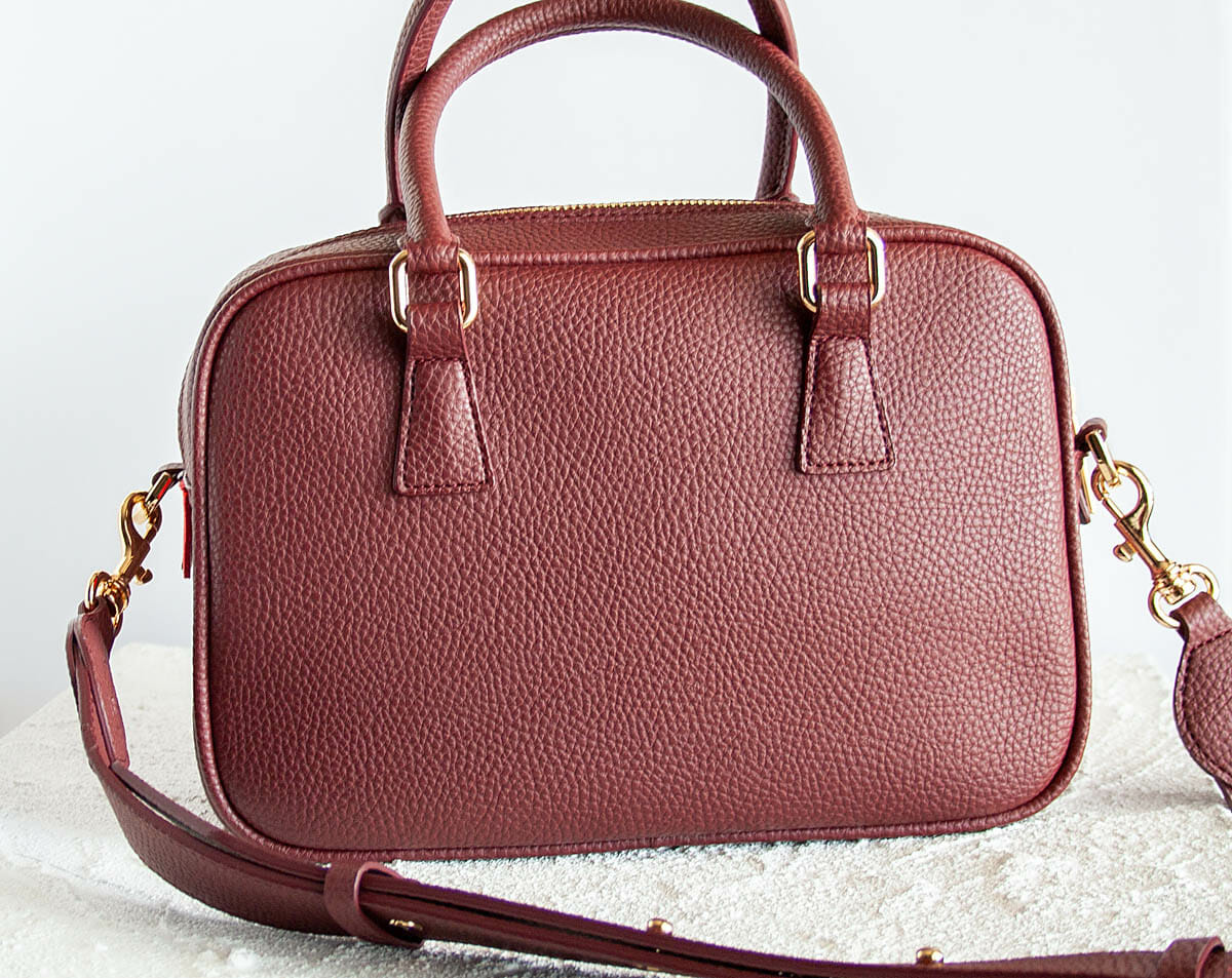 Barton Duffle Tote in bordeaux