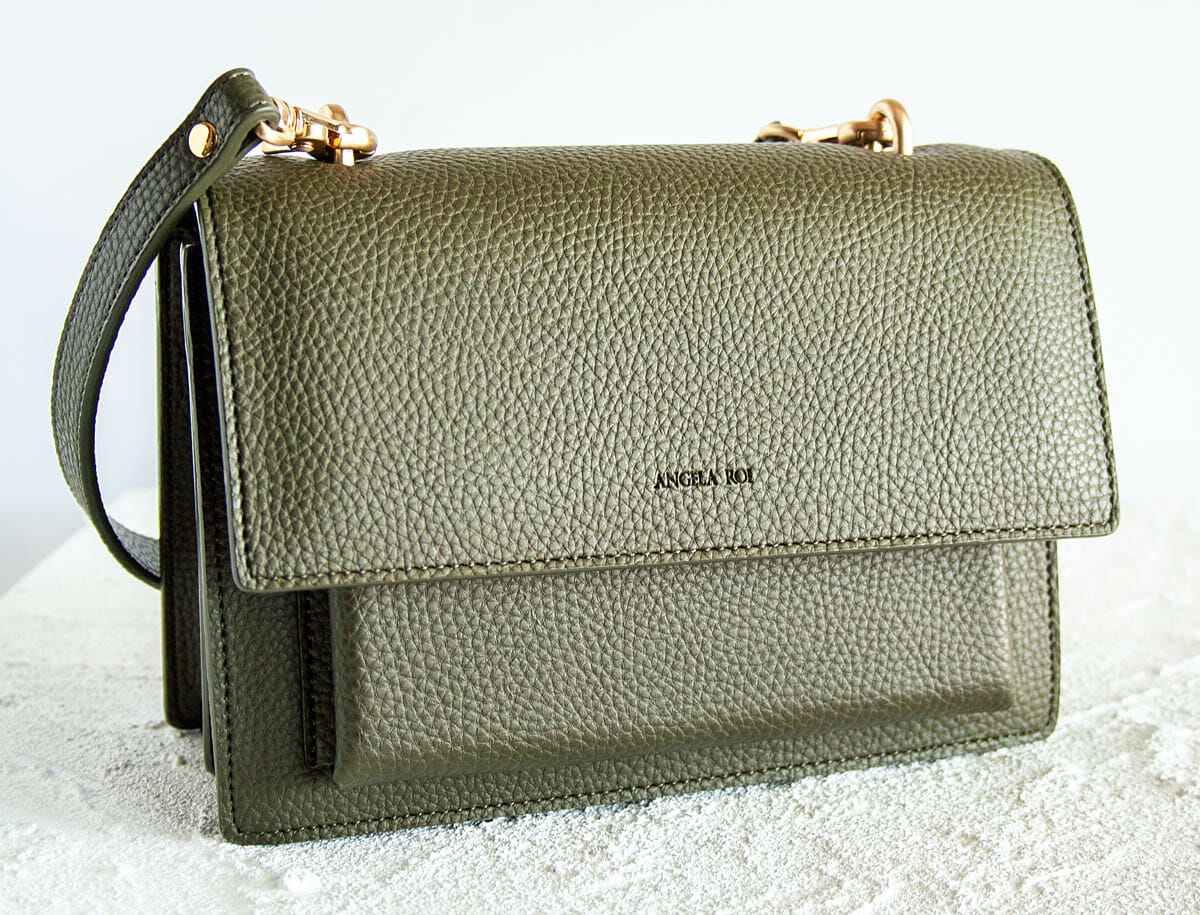 Eloise Satchel in olive green