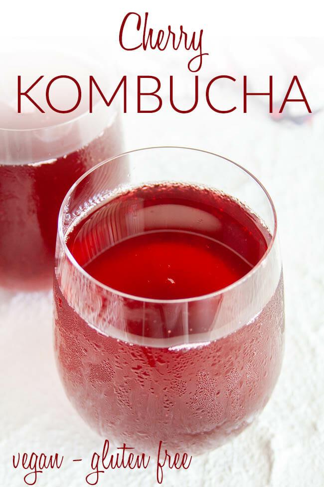 Cherry Kombucha photo with text.