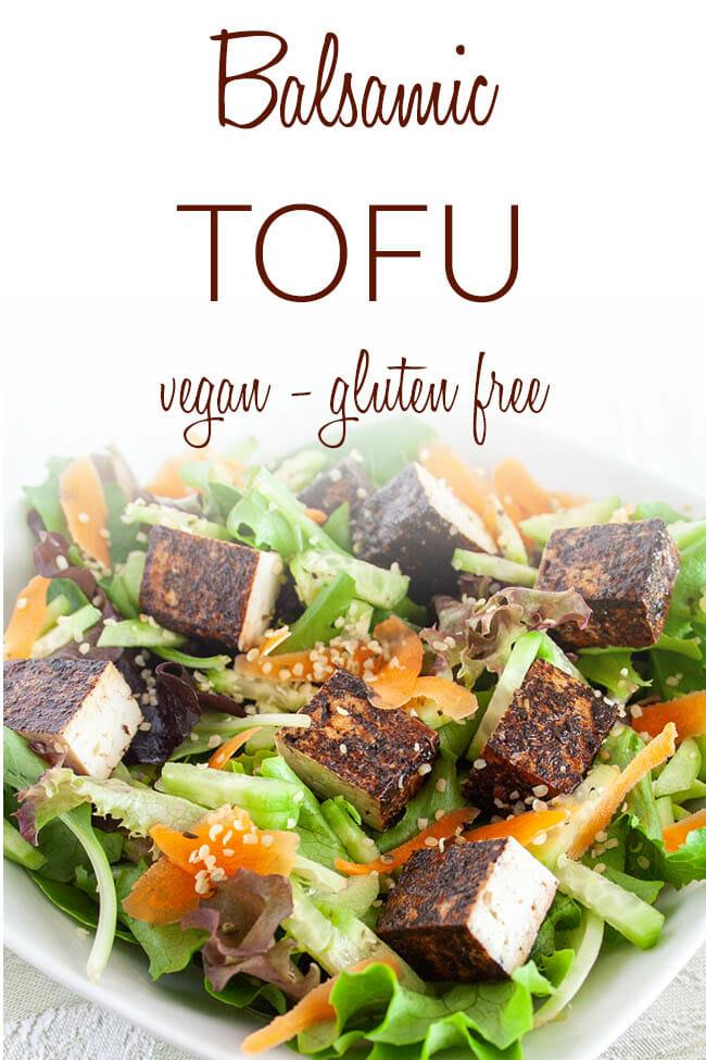 Balsamic Tofu photo with text.