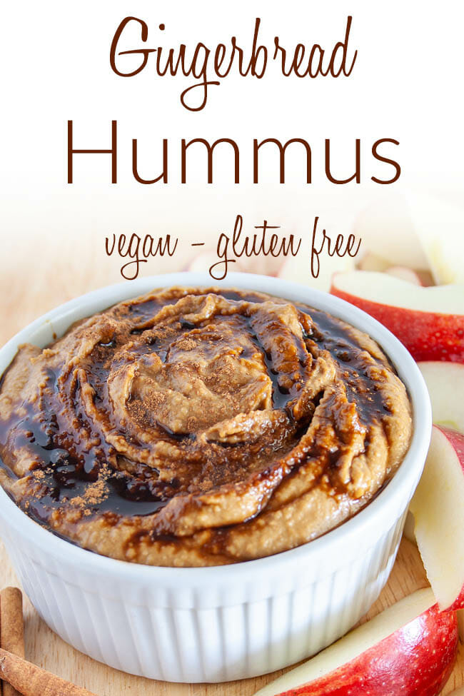 Gingerbread Hummus photo with text.