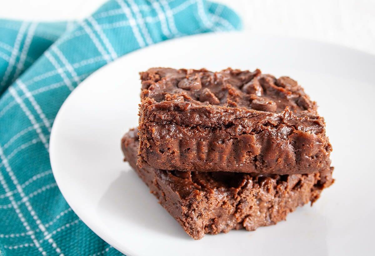 Vegan Black Bean Brownies on plate.