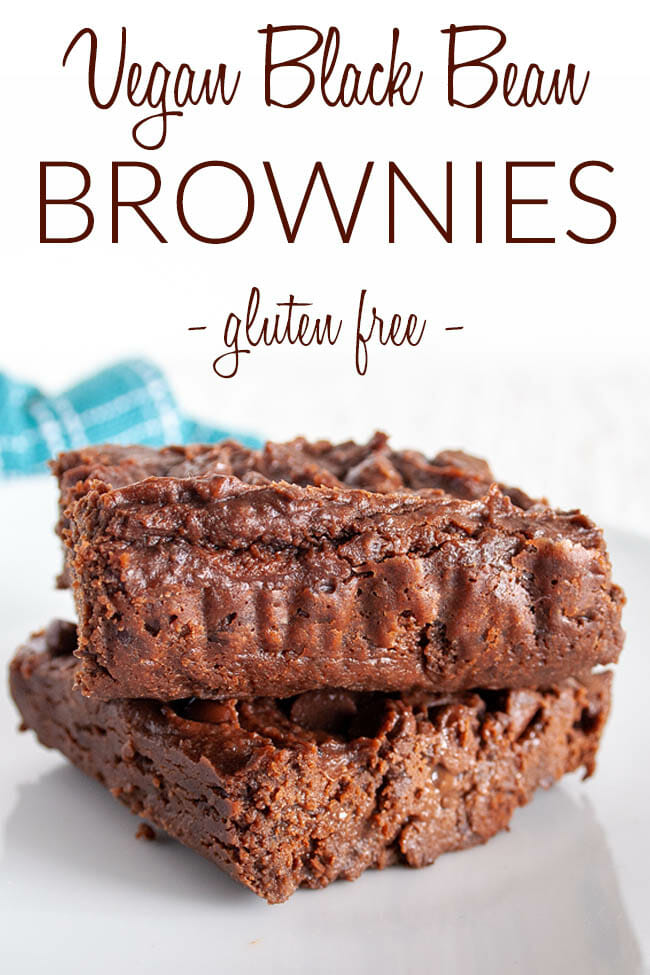Vegan Black Bean Brownies photo with text.