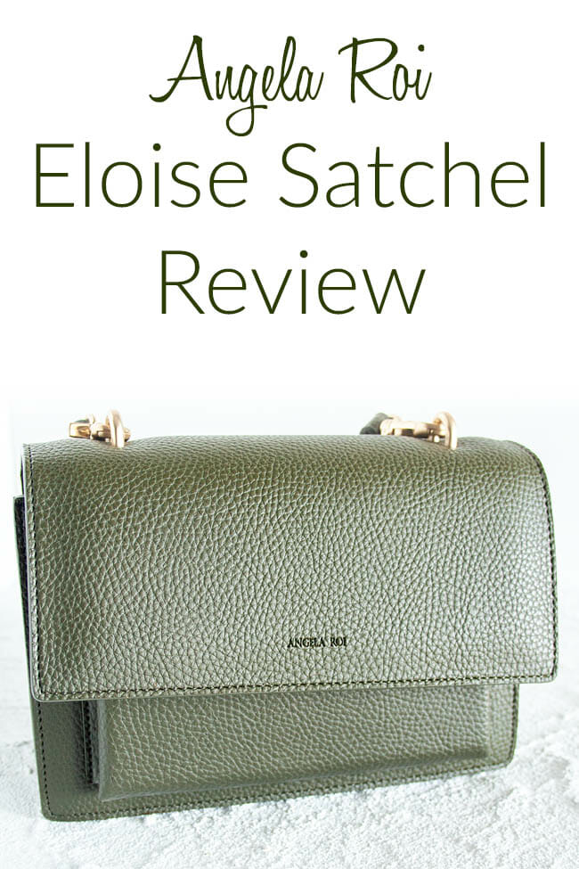 Angela Roi Eloise Satchel Review photo with text