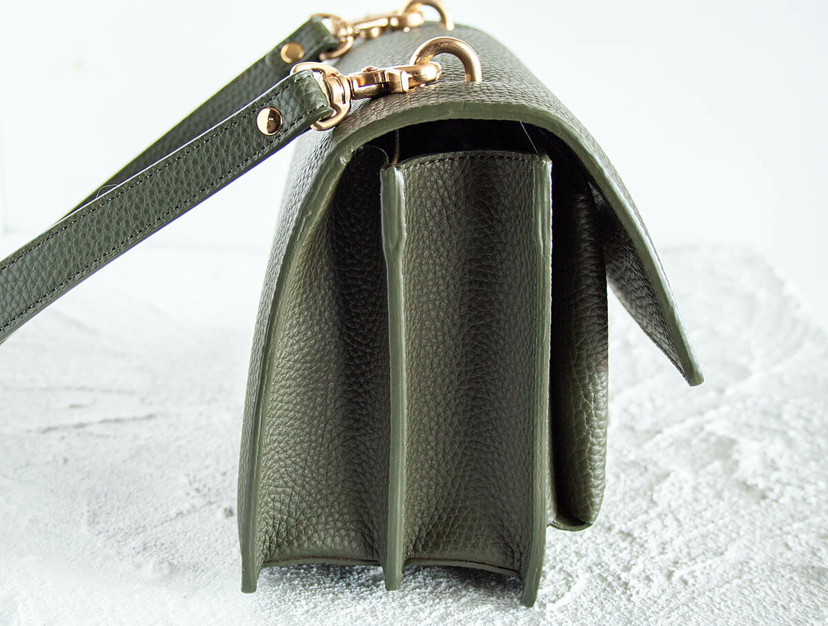 Side view of Eloise Satchel Review.