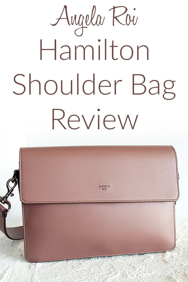 Angela Roi Hamilton Shoulder Bag Review photo with text.