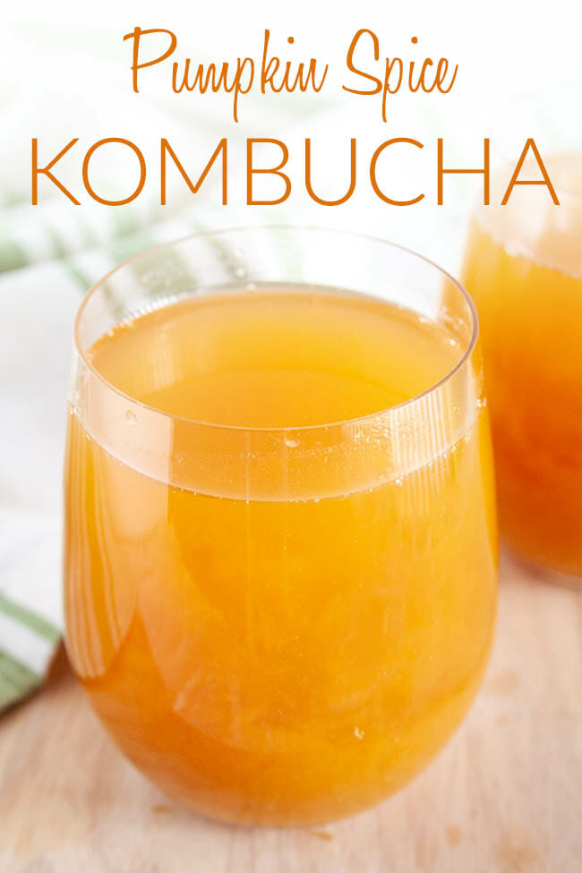 Pumpkin Spice Kombucha photo with text.