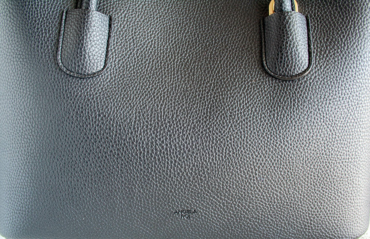 Angela Roi Cher Tote close up to show texture.