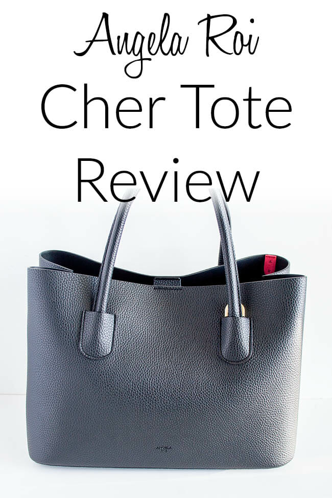 Angela Roi Cher Tote Review collage photo with text.