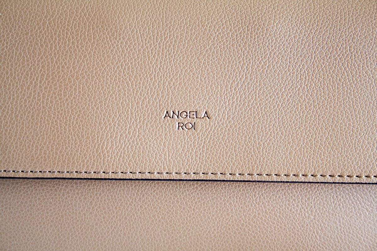 Angela Roi Hamilton Crossbody close up to show texture.