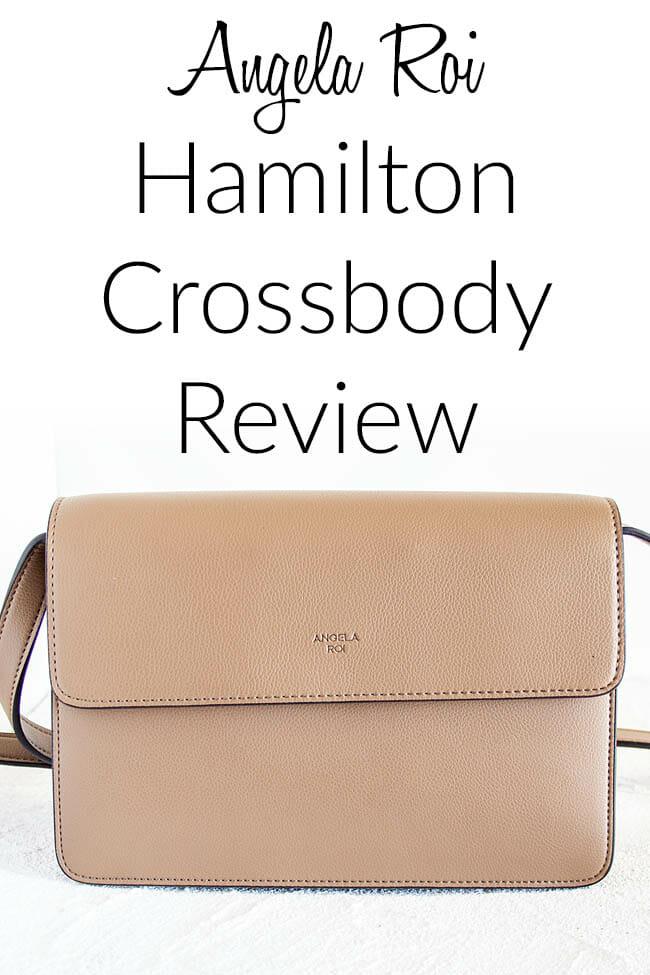 Angela Roi Hamilton Crossbody Review photo with text.