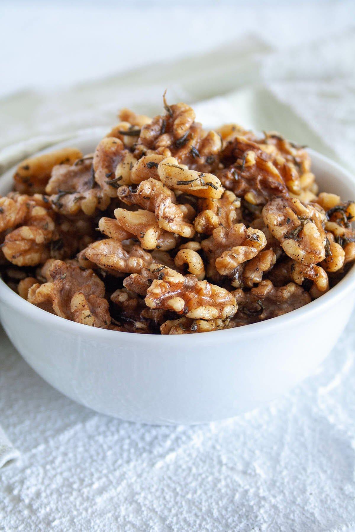 Rosemary Walnuts in bowl.