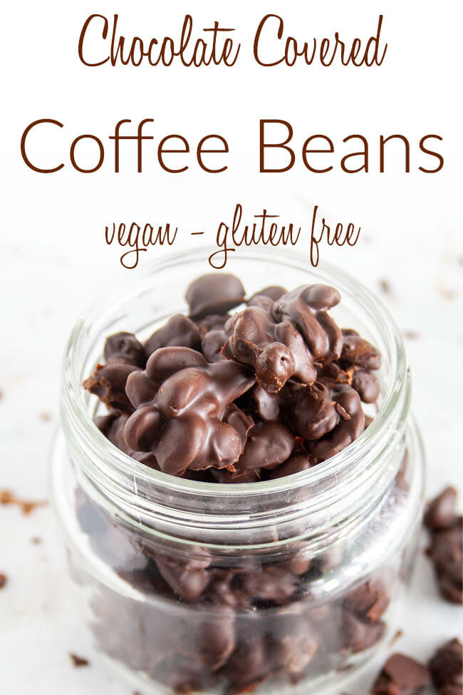 Chocolate Covered Coffee Beans photo with text.