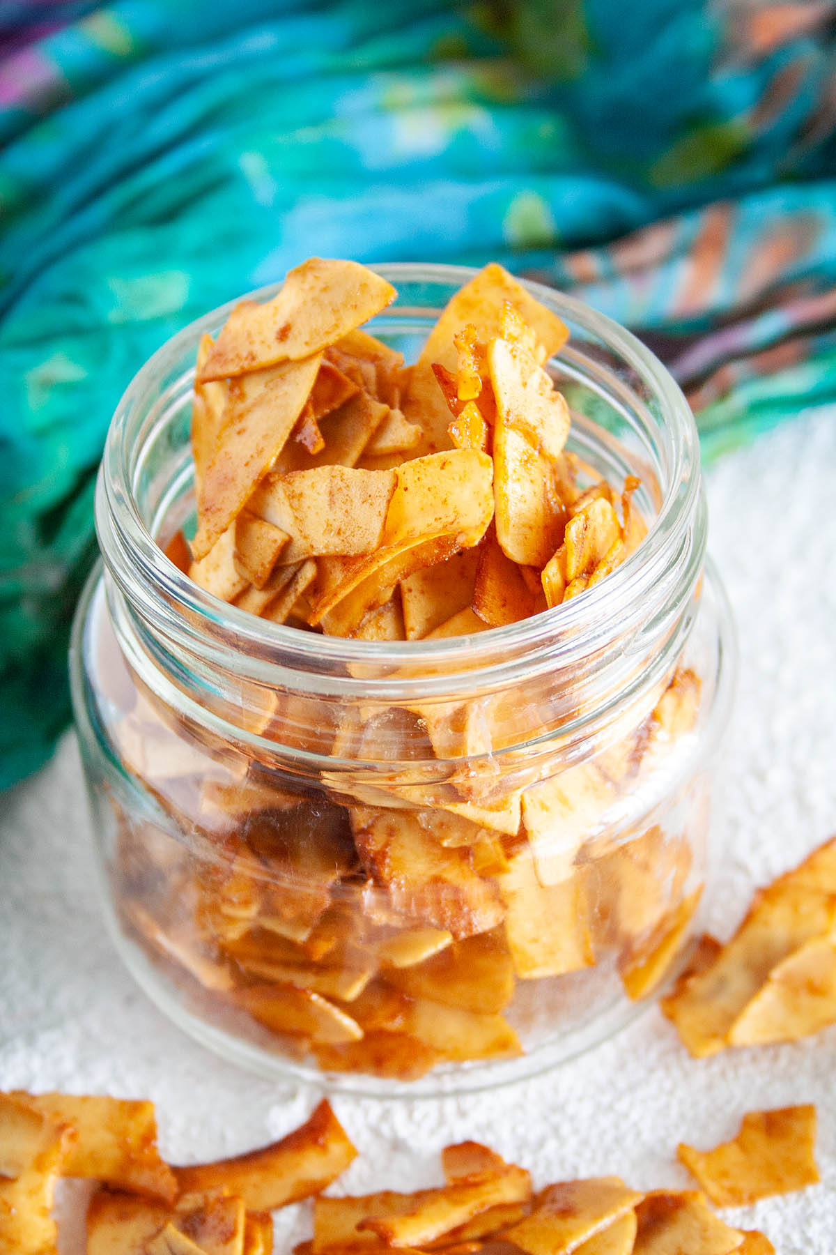 Coconut Bacon in mason jar.