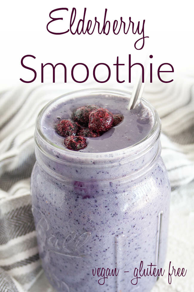 Elderberry Smoothie photo with text.