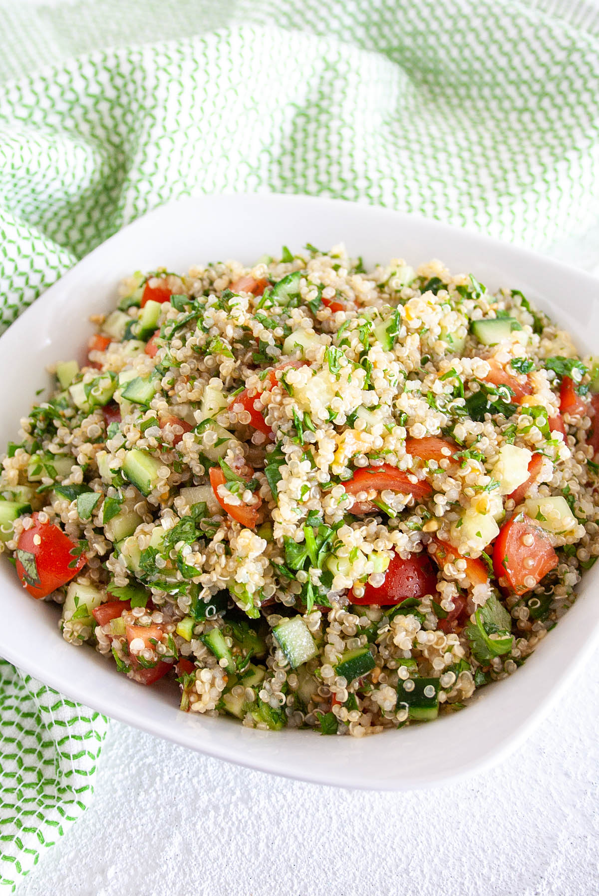 Quinoa Tabbouleh in a bowl.