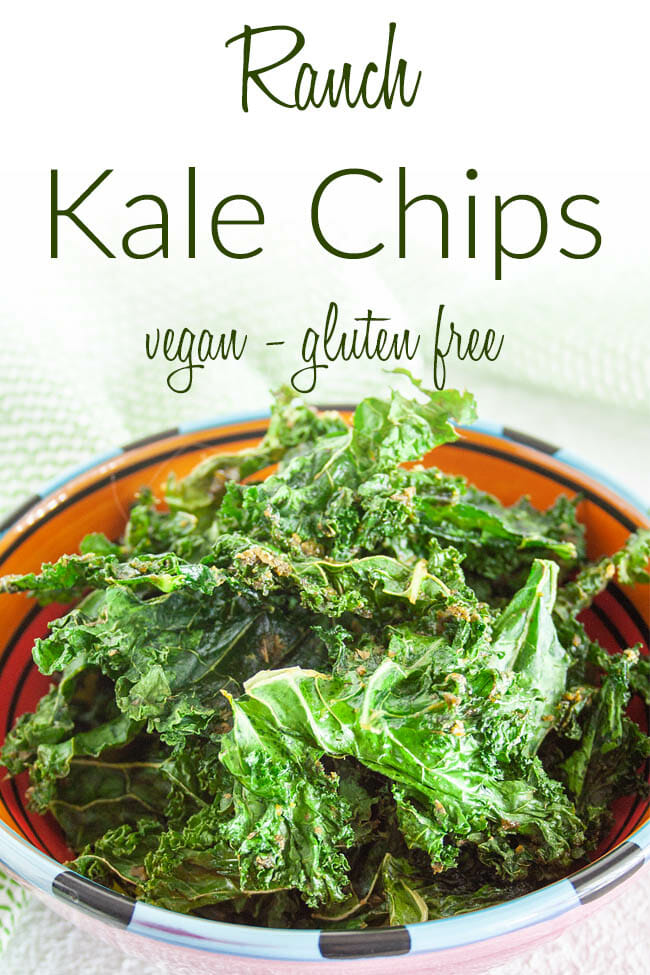 Ranch Kale Chips photo with text.