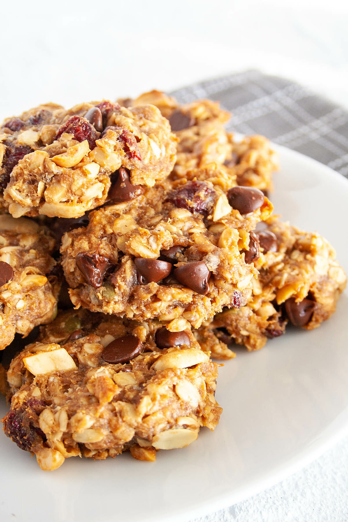 Trail Mix Cookies on a plate.