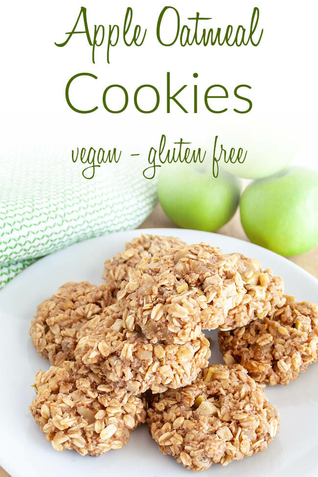 Apple Oatmeal Cookies photo with text.