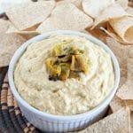 Roasted Hatch Chile Hummus