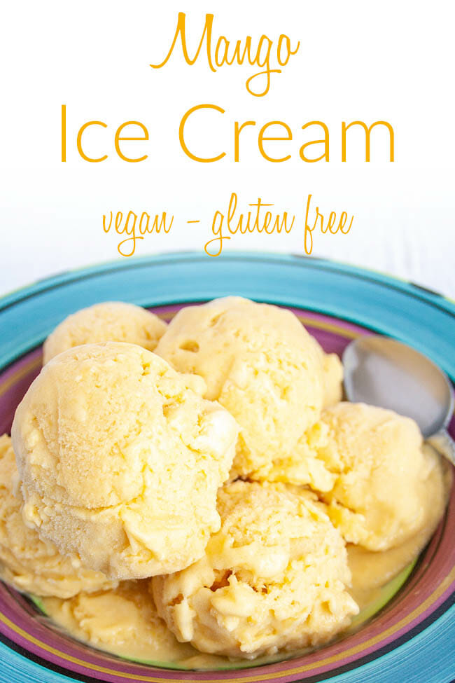 Mango Ice Cream photo with text.