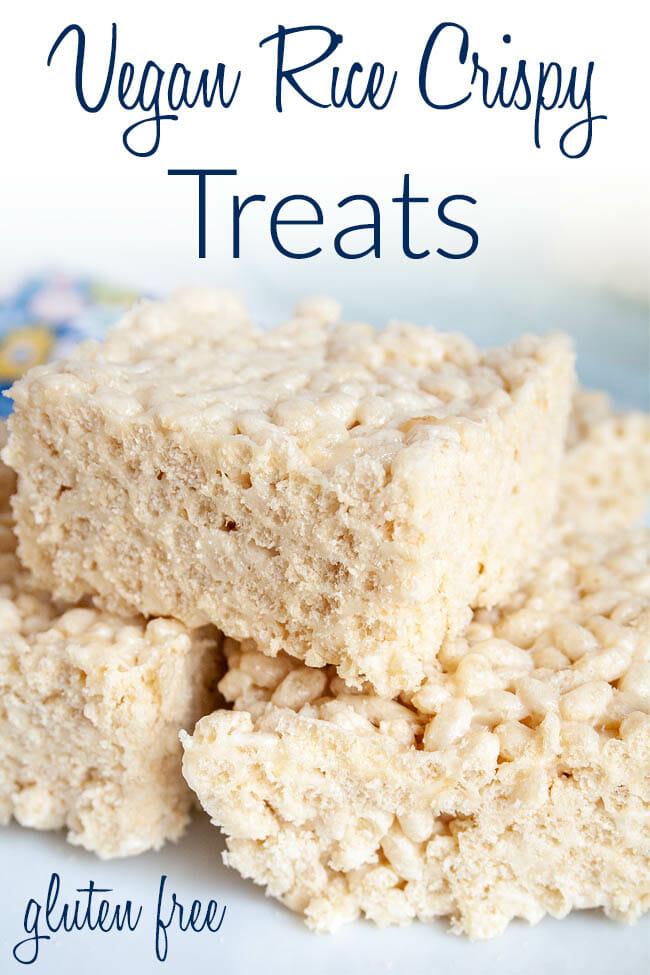 Vegan Rice Crispy Treats photo with text.