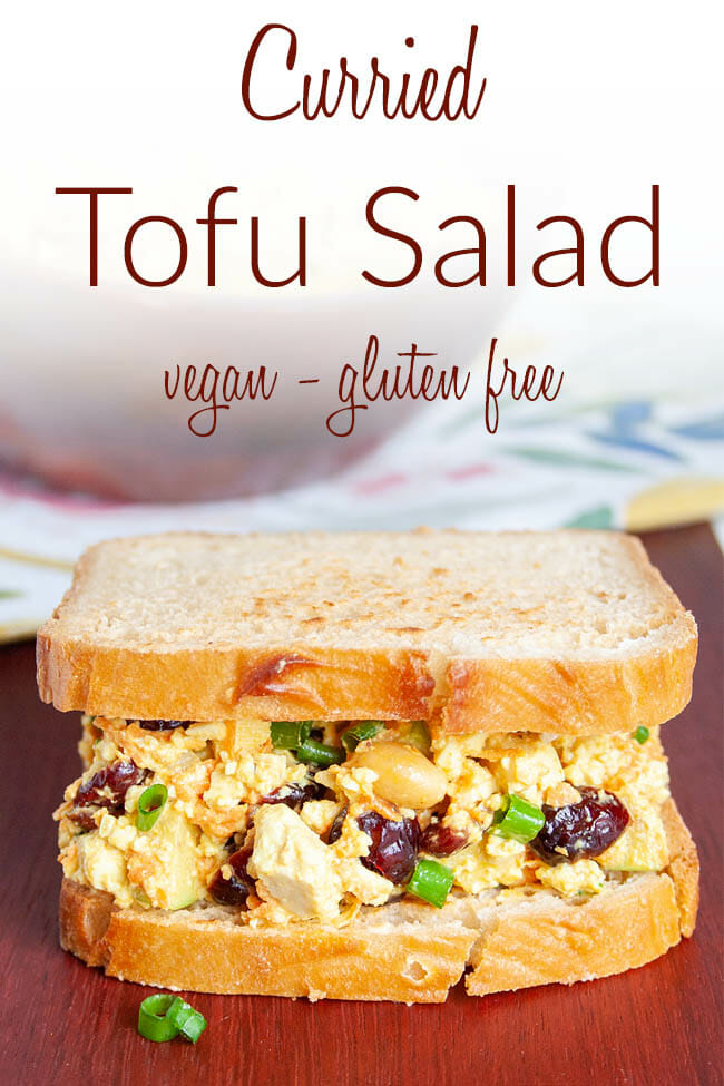 Curried Tofu Salad photo with text.