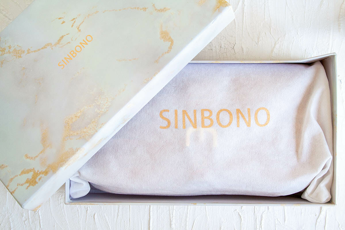 SINBONO Fiona Shoulder Bag in dust bag in a box.
